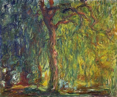 Weeping Willow Claude Monet 1918-1919