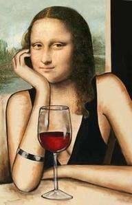 Wine Time Mona Lisa
