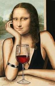 Wine Time Mona Lisa