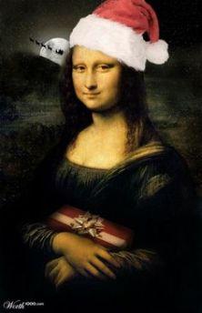 Christmas Mona Lisa