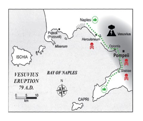 Escape routes from Pompeii